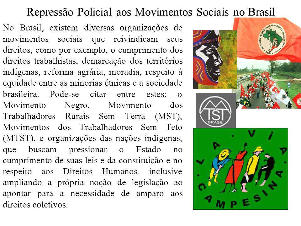 Repressão Policial aos Movimentos Sociais no Brasil