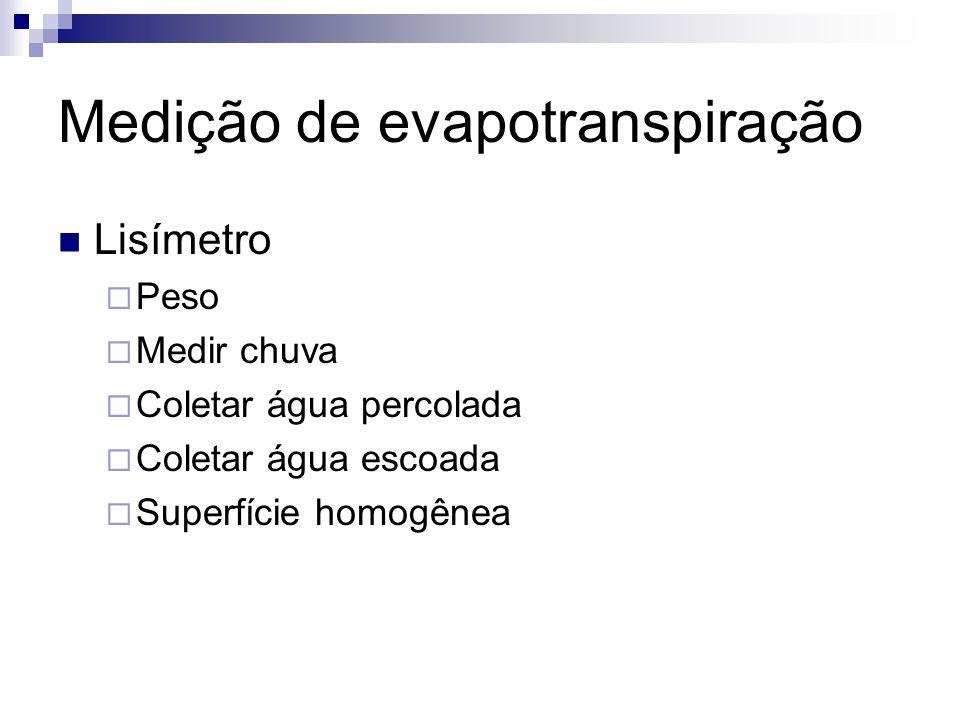 Medição de evapotranspiração
