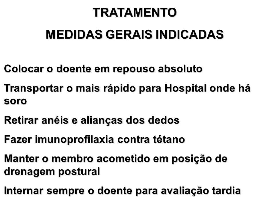 MEDIDAS GERAIS INDICADAS
