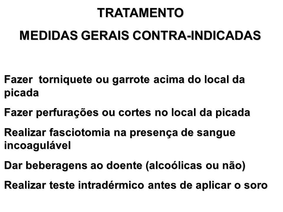 MEDIDAS GERAIS CONTRA-INDICADAS