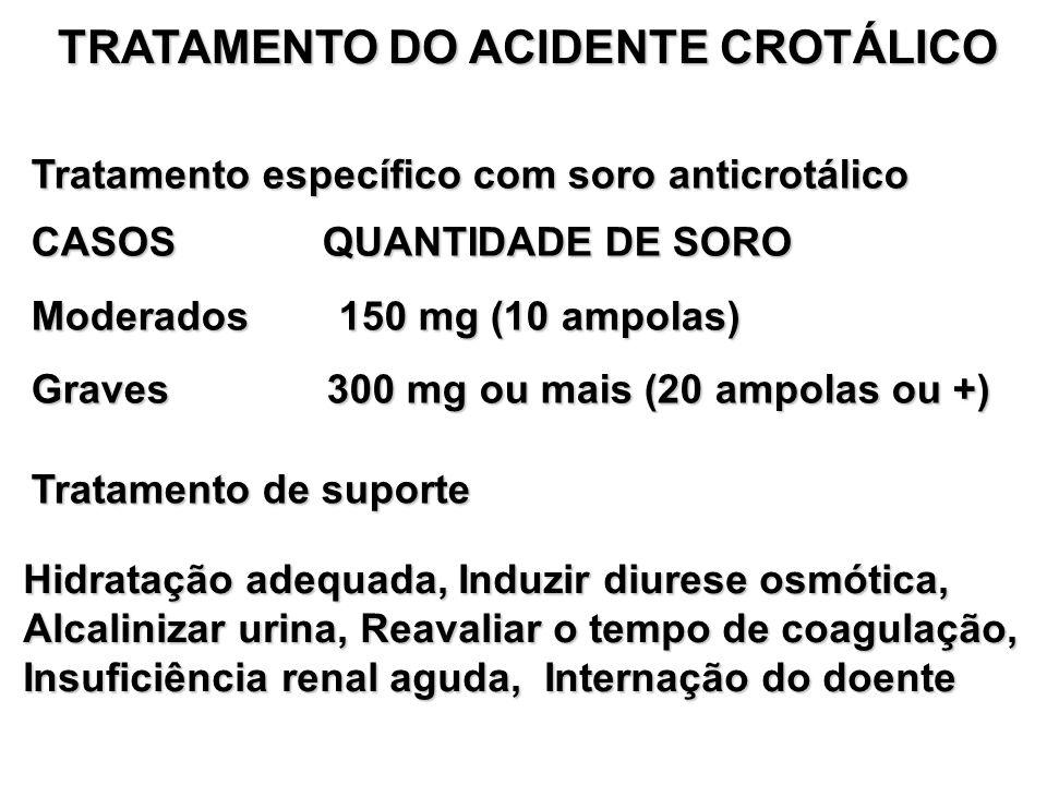 TRATAMENTO DO ACIDENTE CROTÁLICO