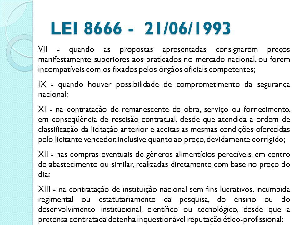 LEI 8666 - 21/06/1993