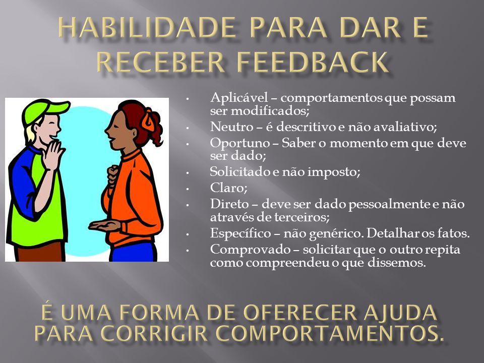 habilidade para dar e receber feedback