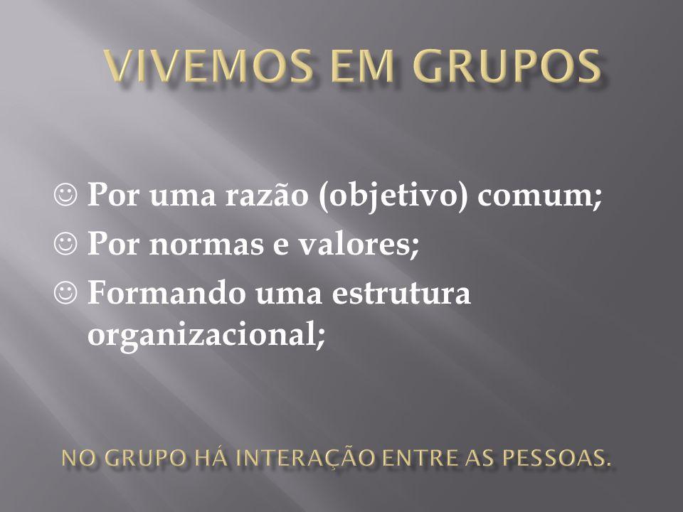 No grupo há interação entre as pessoas.