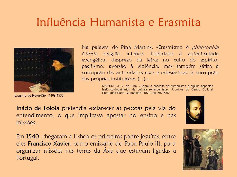 Influência Humanista e Erasmita