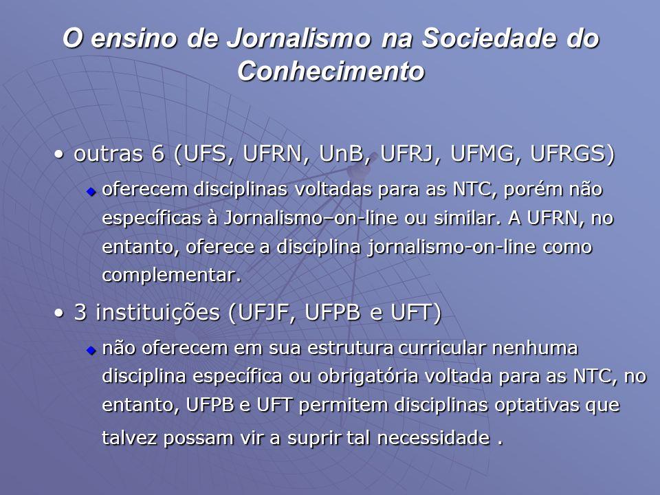 O ensino de Jornalismo na Sociedade do Conhecimento