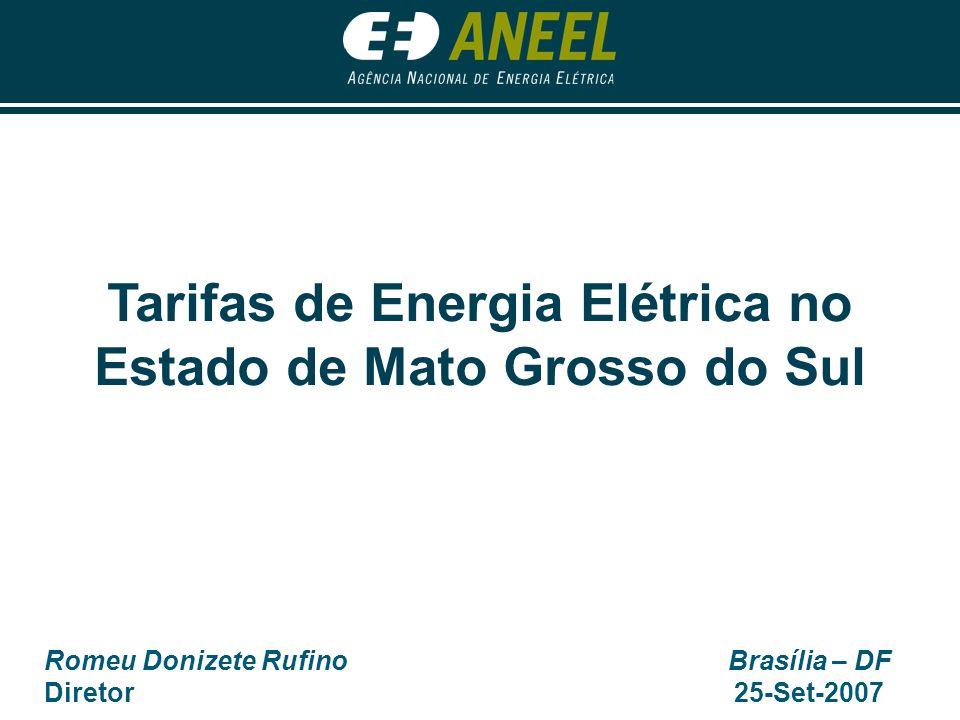 Tarifas de Energia Elétrica no Estado de Mato Grosso do Sul