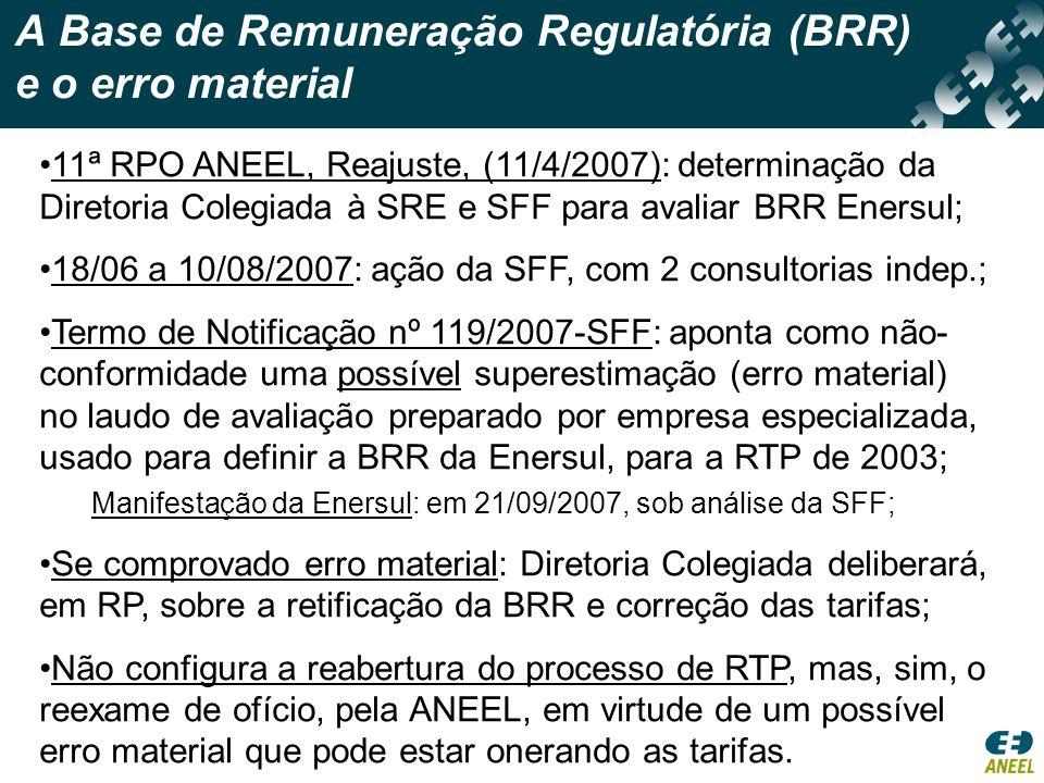 A Base de Remuneração Regulatória (BRR) e o erro material