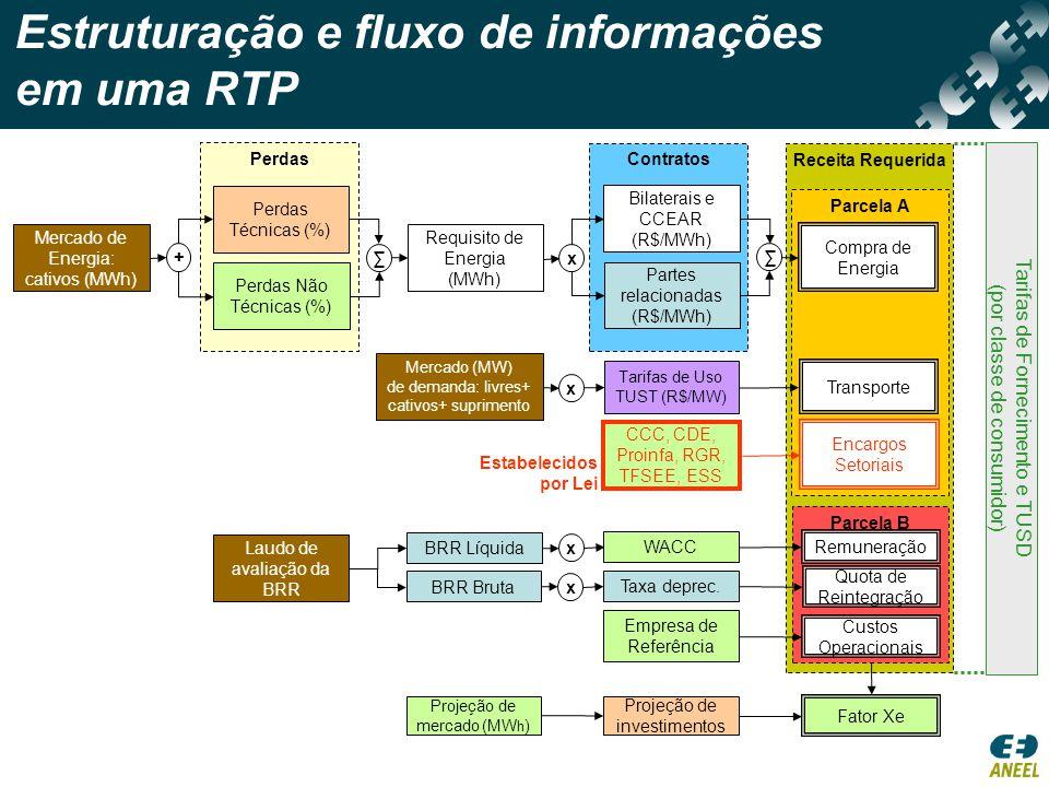Estruturação e fluxo de informações em uma RTP