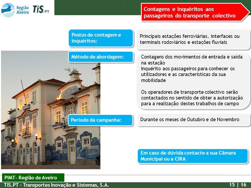 Contagens e inquéritos aos passageiros do transporte colectivo