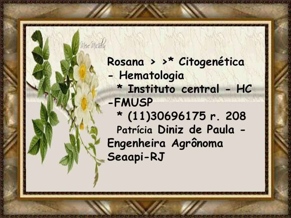 Rosana > >. Citogenética - Hematologia