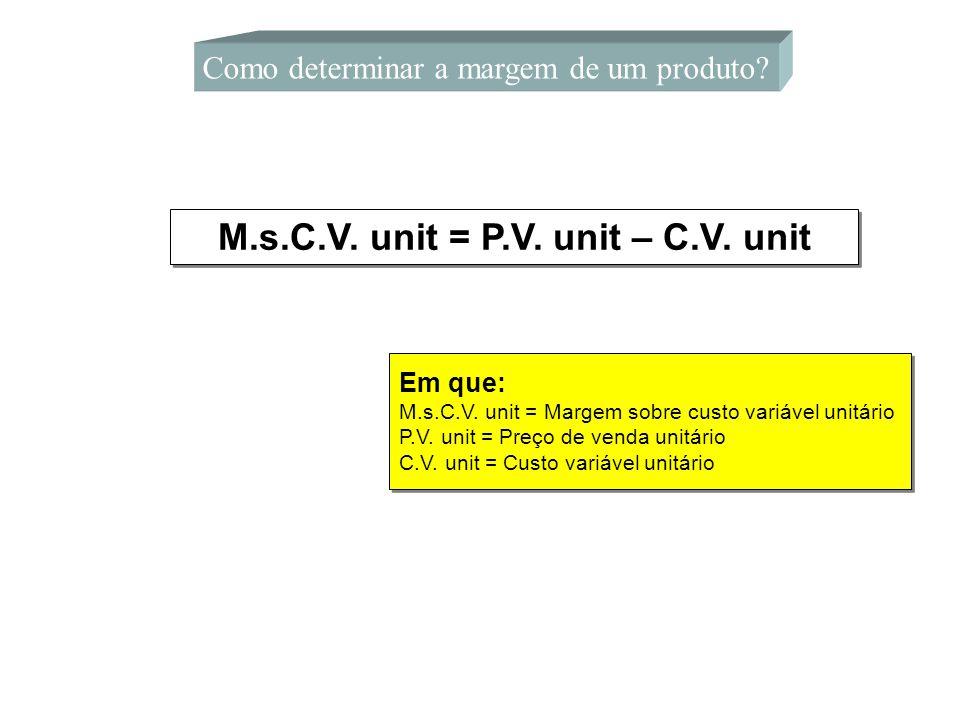 M.s.C.V. unit = P.V. unit – C.V. unit