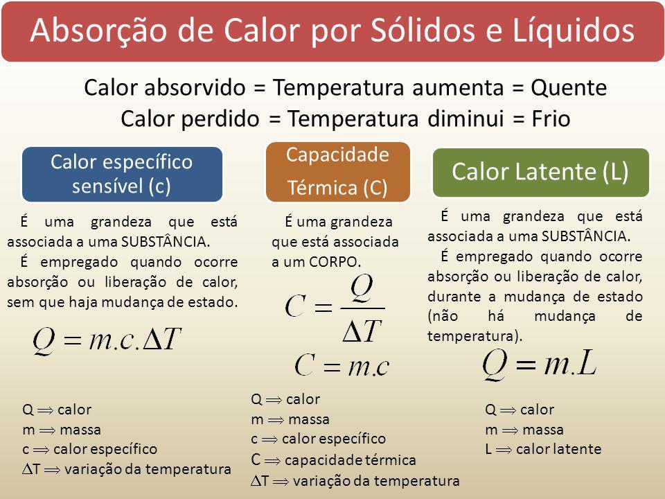 Absorção de Calor por Sólidos e Líquidos