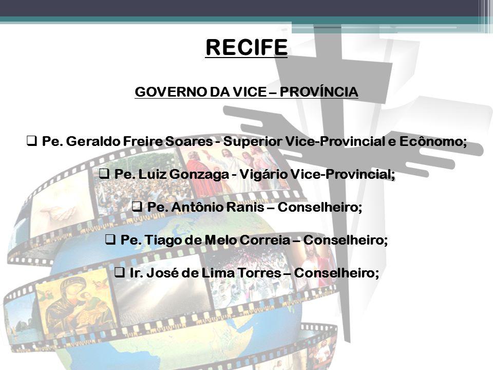 RECIFE GOVERNO DA VICE – PROVÍNCIA