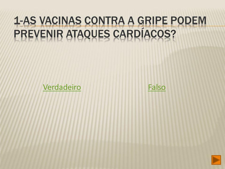 1-As vacinas contra a gripe podem prevenir ataques cardíacos