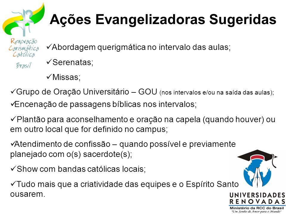 Ações Evangelizadoras Sugeridas