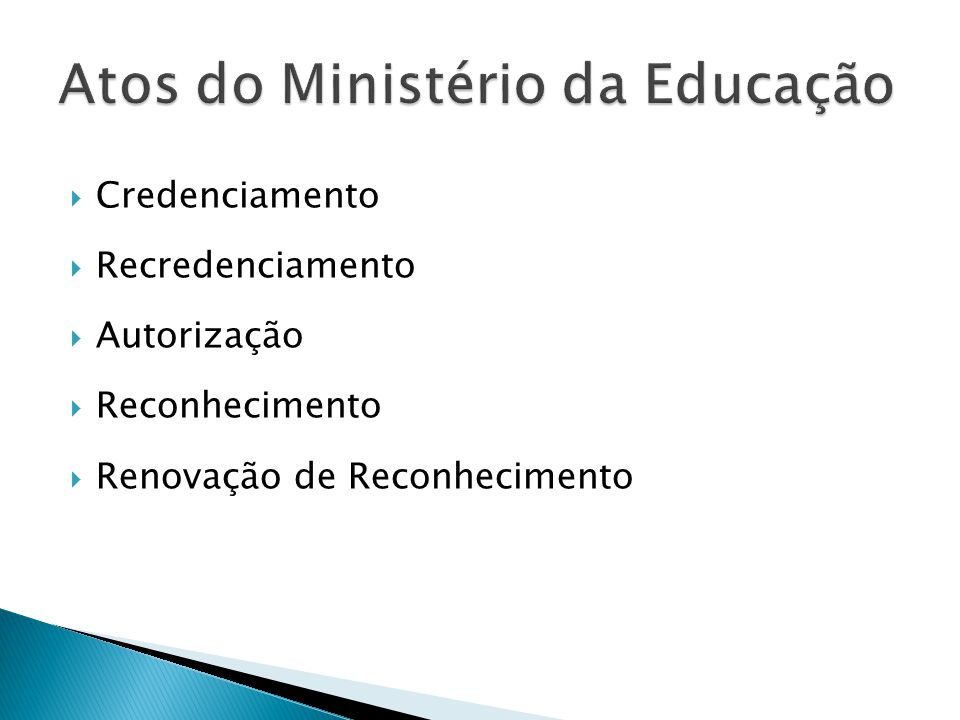 Atos do Ministério da Educação