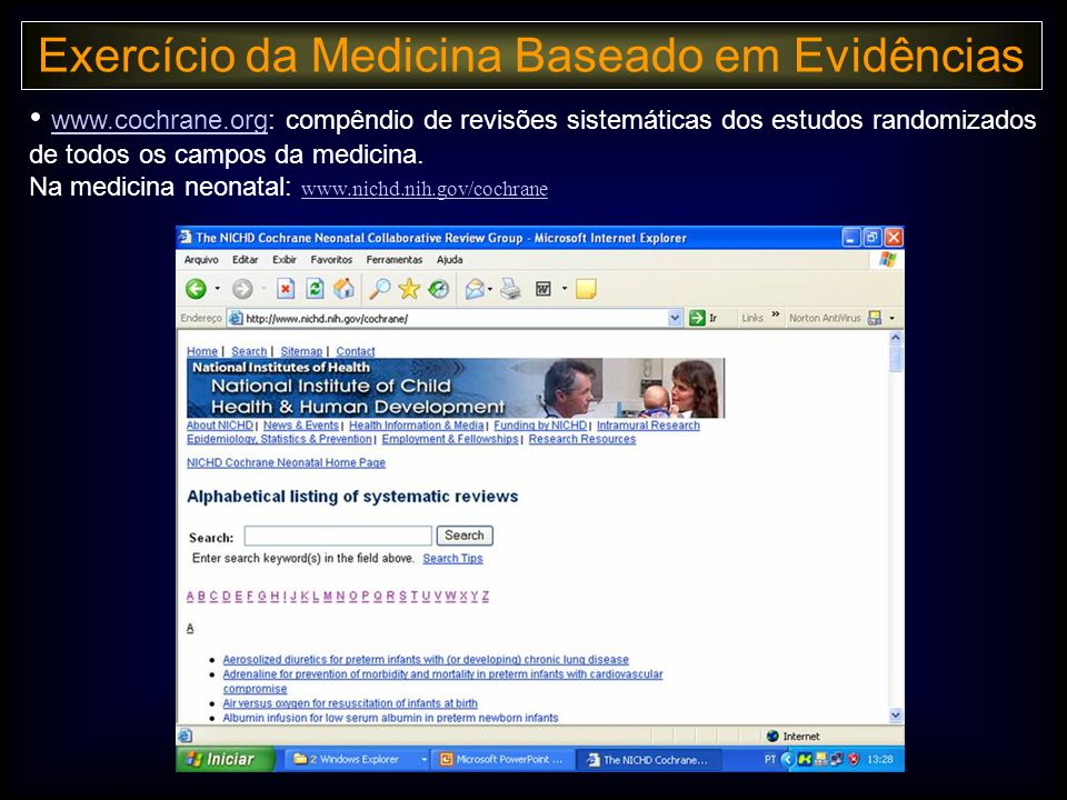 Exercício da Medicina Baseado em Evidências