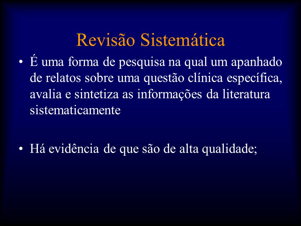 Revisão Sistemática