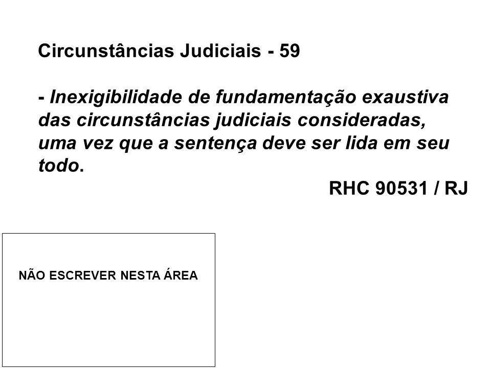 Circunstâncias Judiciais - 59