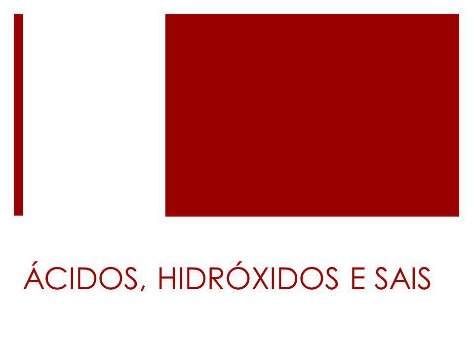 ÁCIDOS, HIDRÓXIDOS E SAIS