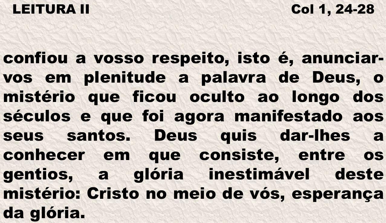 LEITURA II Col 1, 24-28