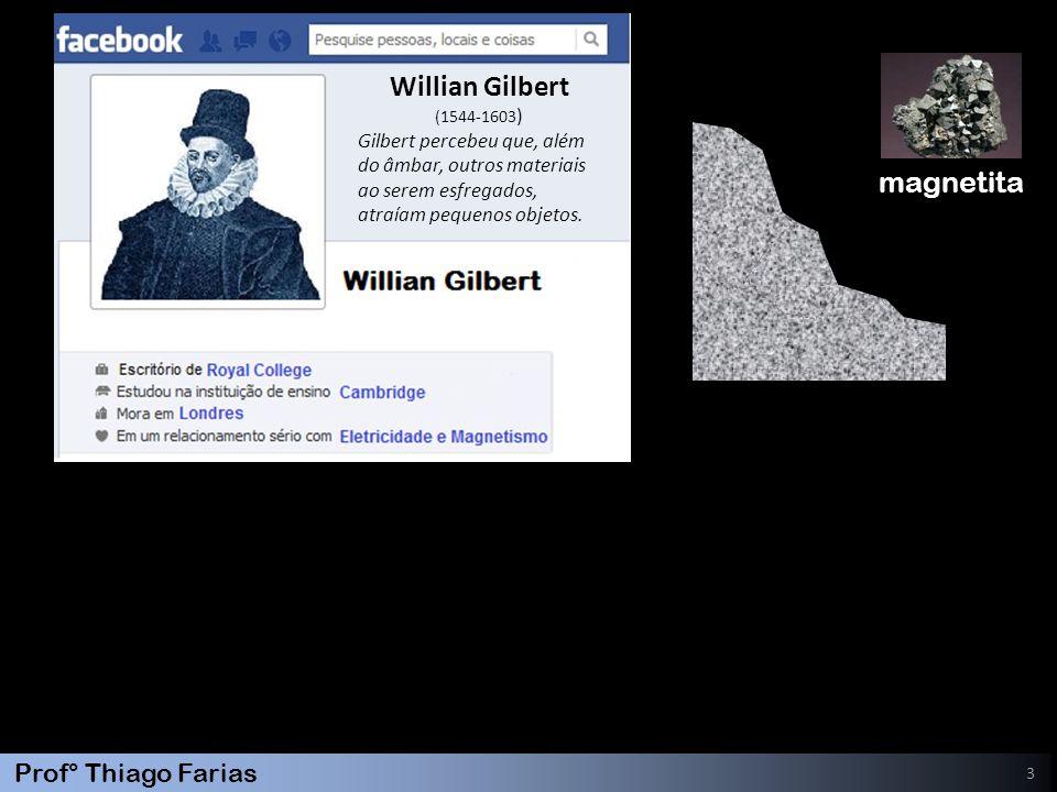 Willian Gilbert magnetita Gilbert percebeu que, além