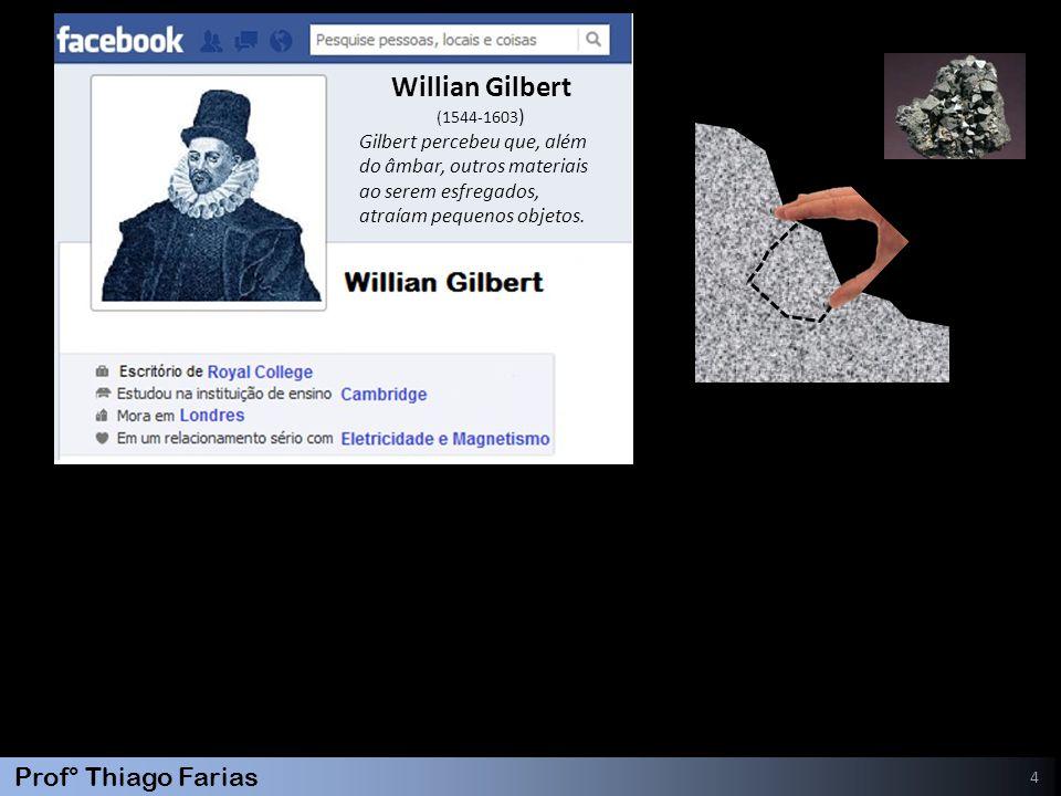 Willian Gilbert Gilbert percebeu que, além do âmbar, outros materiais