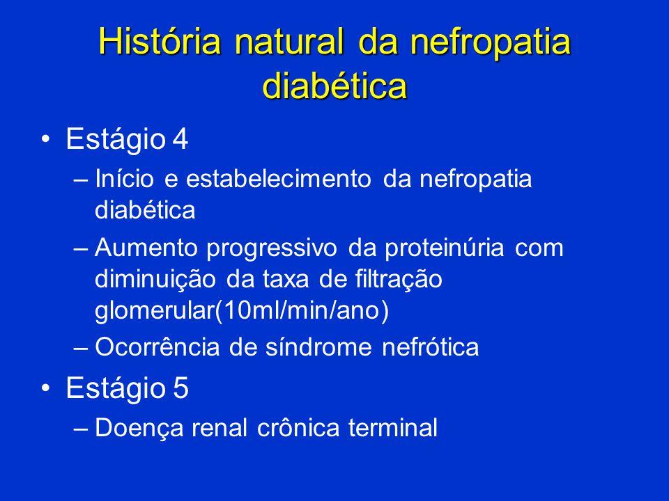 História natural da nefropatia diabética