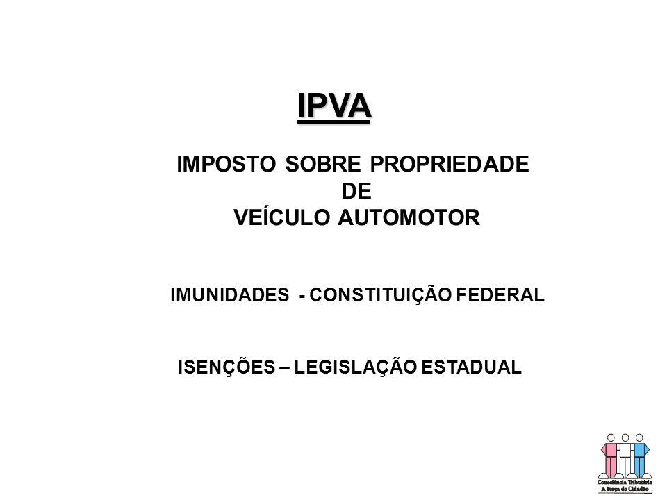 IMPOSTO SOBRE PROPRIEDADE IMUNIDADES - CONSTITUIÇÃO FEDERAL