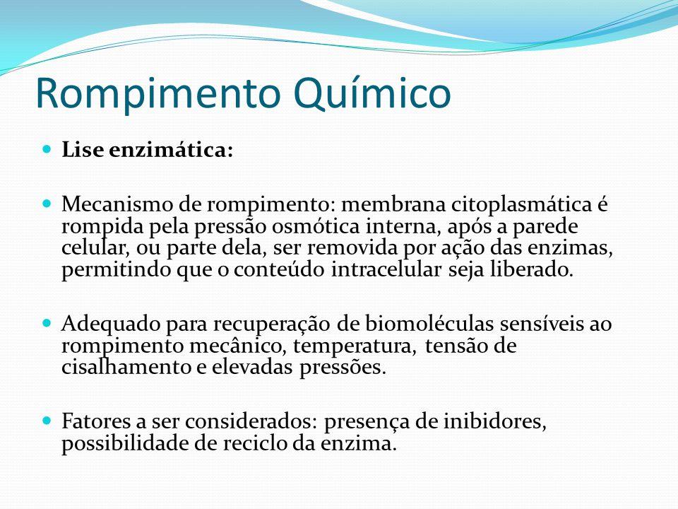 Rompimento Químico Lise enzimática: