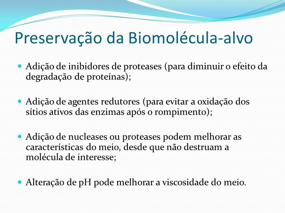 Preservação da Biomolécula-alvo