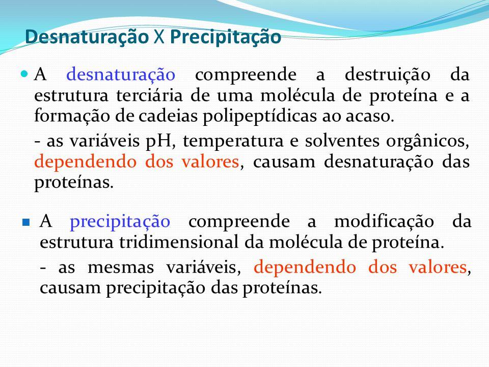 Desnaturação X Precipitação