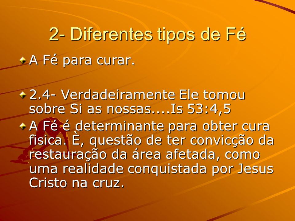2- Diferentes tipos de Fé