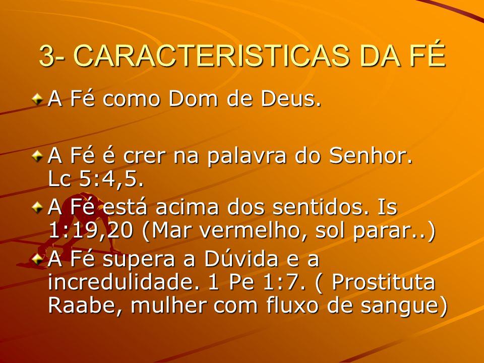 3- CARACTERISTICAS DA FÉ