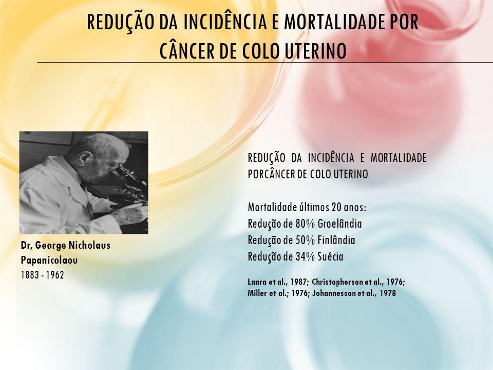 REDUÇÃO DA INCIDÊNCIA E MORTALIDADE POR CÂNCER DE COLO UTERINO