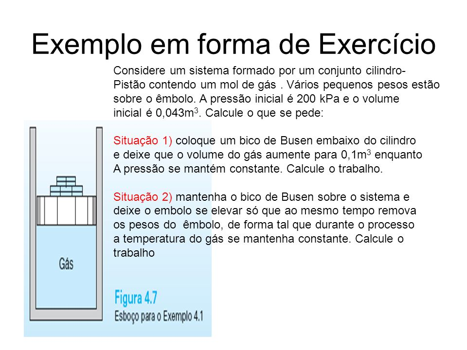 Exemplo em forma de Exercício