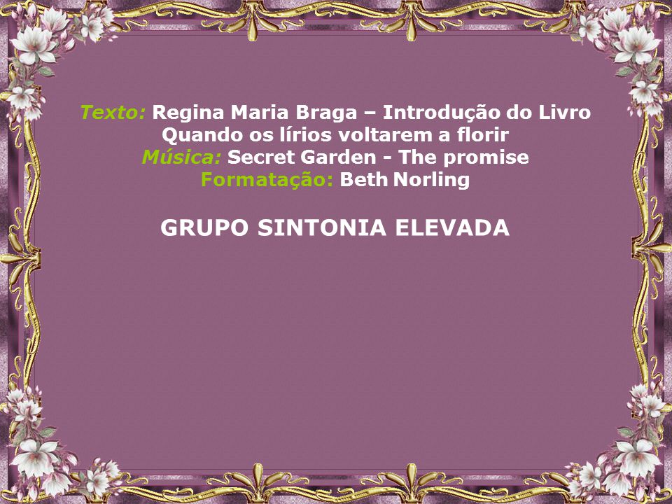 GRUPO SINTONIA ELEVADA