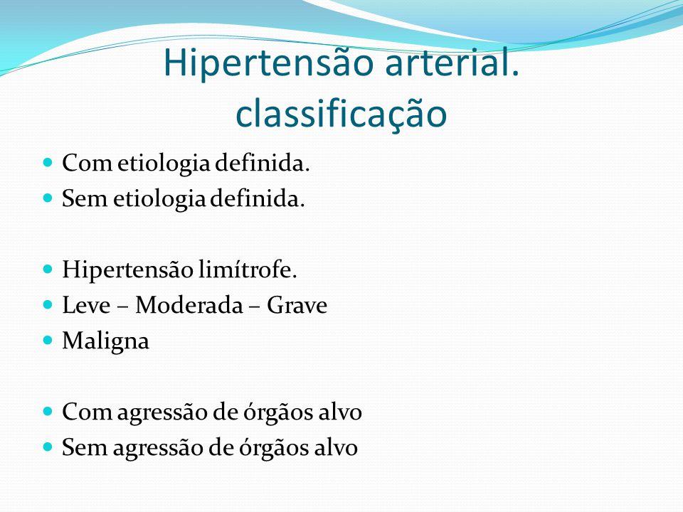 Hipertensão arterial. classificação