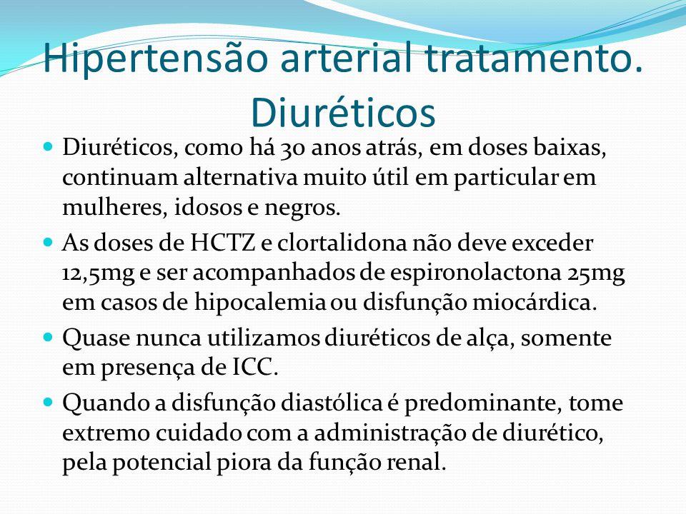 Hipertensão arterial tratamento. Diuréticos