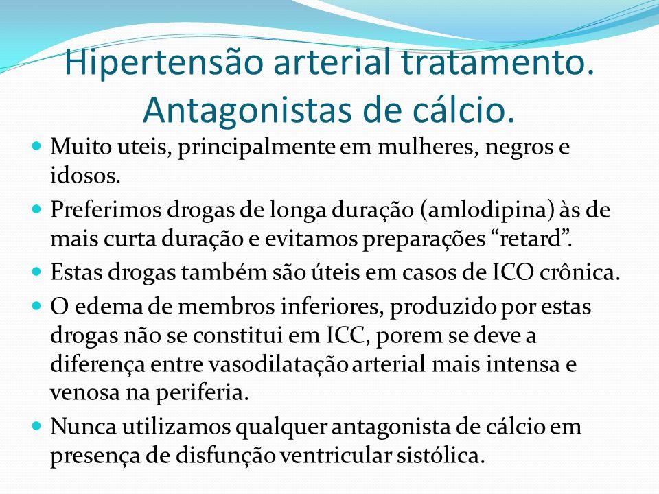 Hipertensão arterial tratamento. Antagonistas de cálcio.