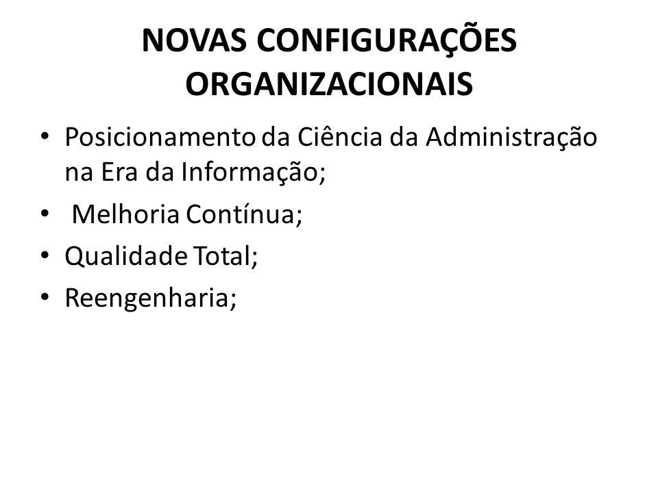 NOVAS CONFIGURAÇÕES ORGANIZACIONAIS