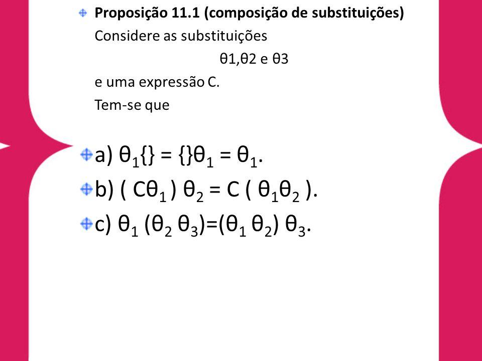 a) θ1{} = {}θ1 = θ1. b) ( Cθ1 ) θ2 = C ( θ1θ2 ).