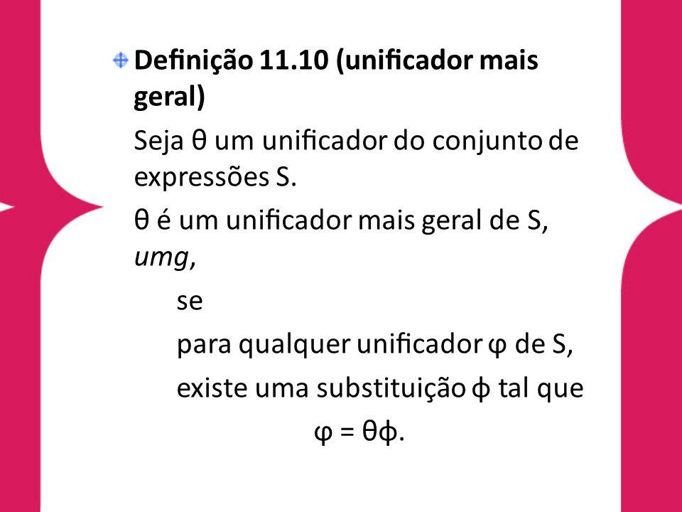Definição 11.10 (unificador mais geral)