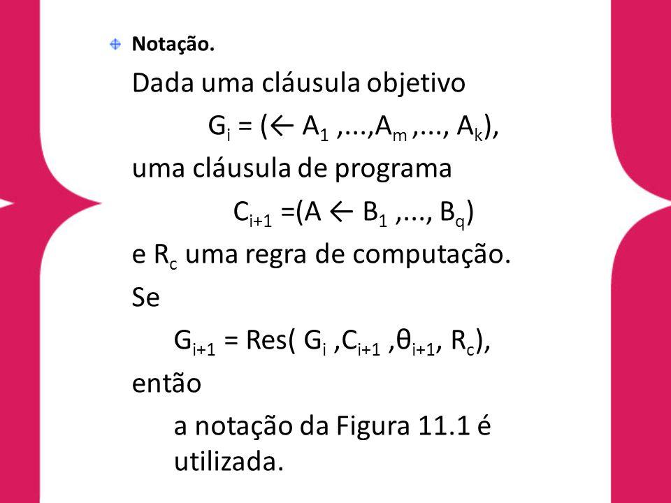 uma cláusula de programa Ci+1 =(A ← B1 ,..., Bq)