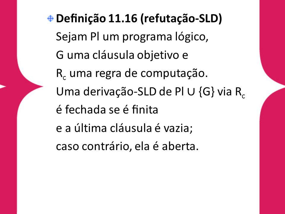 Definição 11.16 (refutação-SLD)