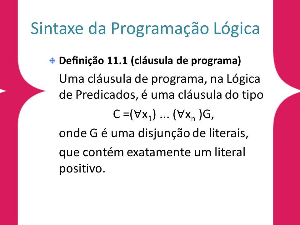 Sintaxe da Programação Lógica