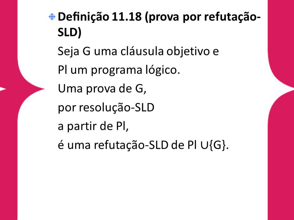 Definição 11.18 (prova por refutação-SLD)