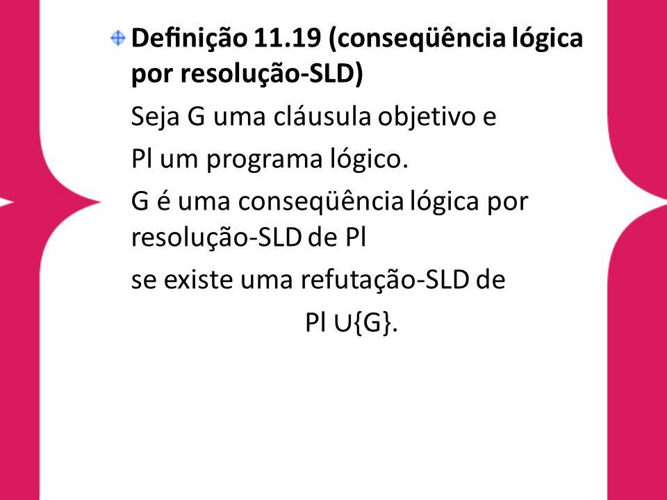 Definição 11.19 (conseqüência lógica por resolução-SLD)