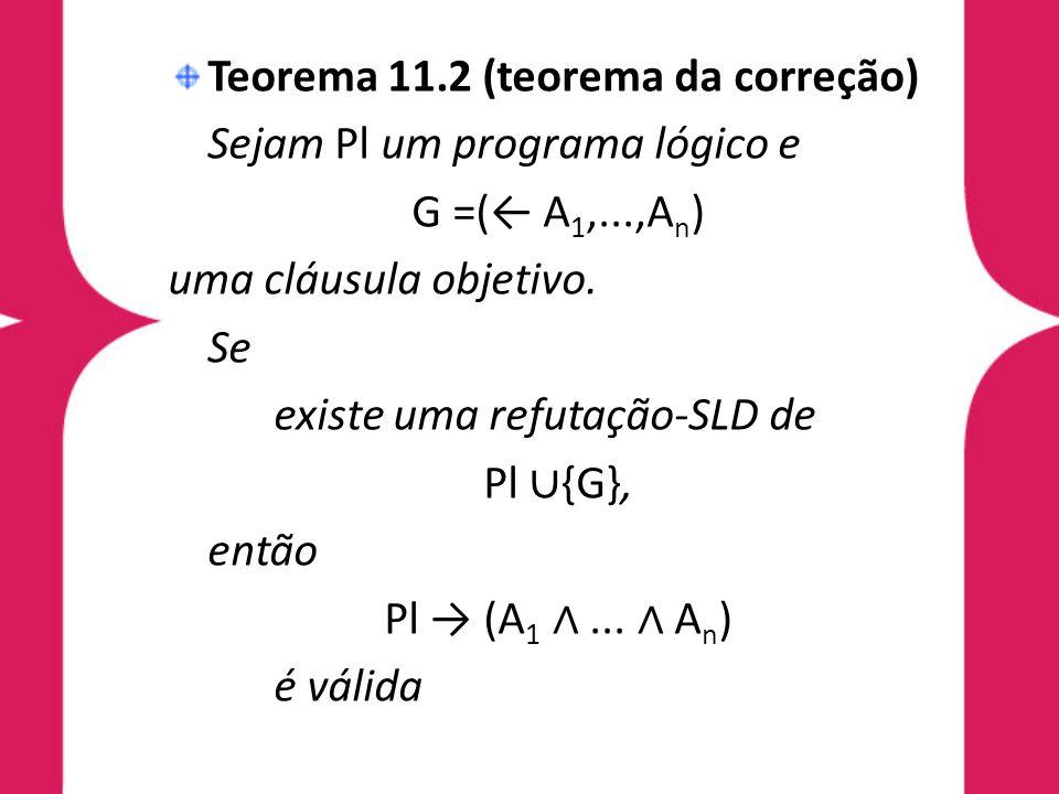 Teorema 11.2 (teorema da correção)